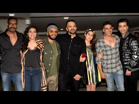 Simmba Success Party - Ranveer Singh, Ajay Devgan, Akshay Kumar, Kajol, Sara Ali Khan, Rohit Shetty thumbnail