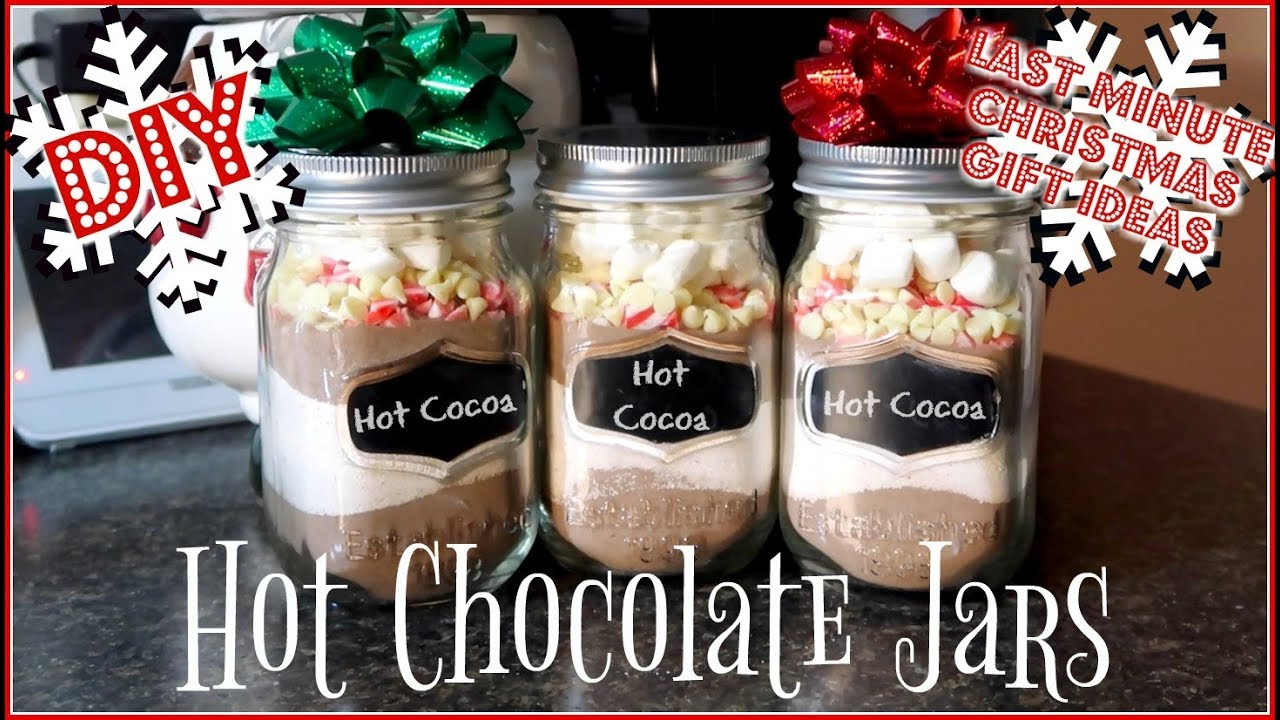 DIY Hot Chocolate Jars | Last Minute Gift Ideas! - YouTube