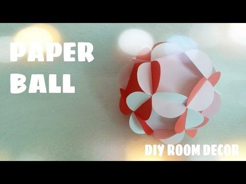 DIY - Cách làm quả cầu hoa bằng giấy