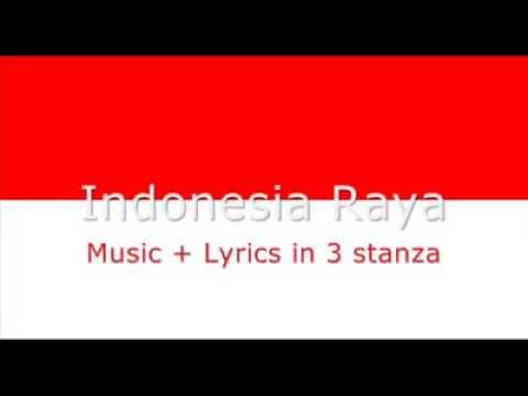 Indonesia Raya. Lengkap 3 stanza