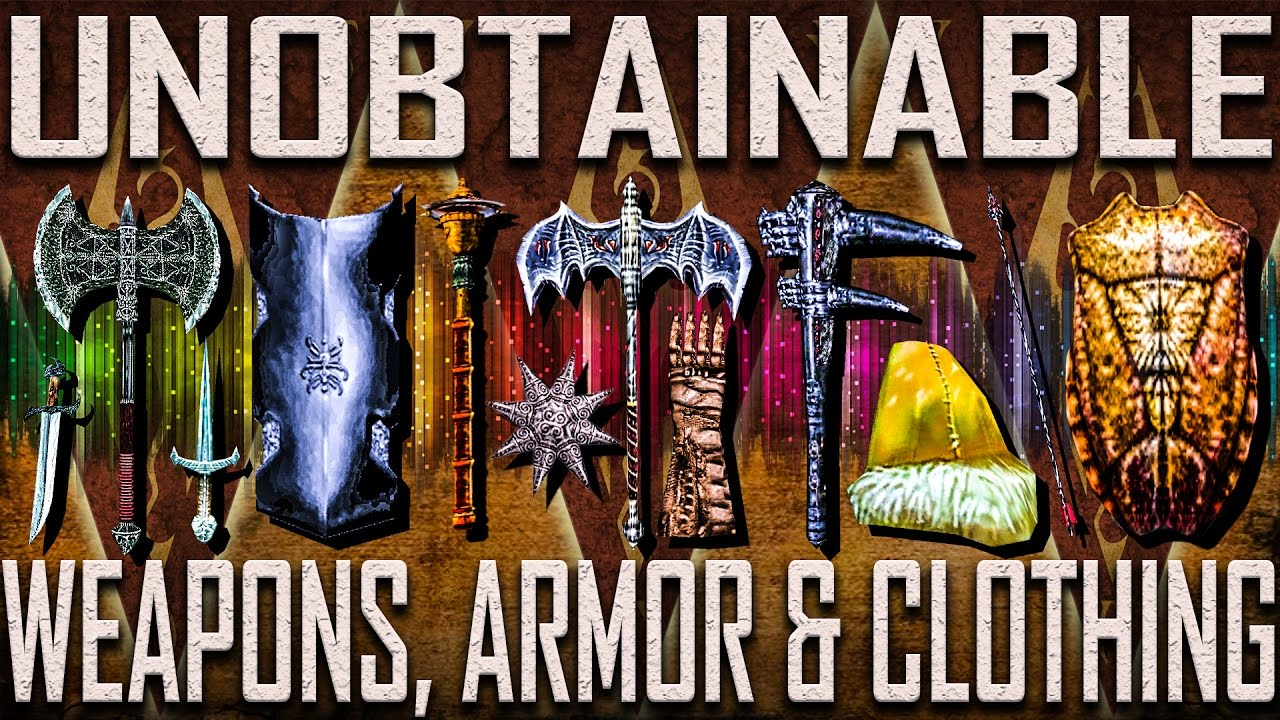 Unobtainable Weapons & Armor - Morrowind (Includes DLCs)