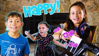 If You're Happy and You Know it Clap your hands Song for kids with ZoZo and her siblings!