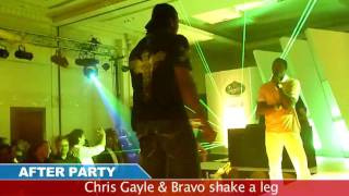 Chris Gayle & Bravo -  Dance on Hindi Song