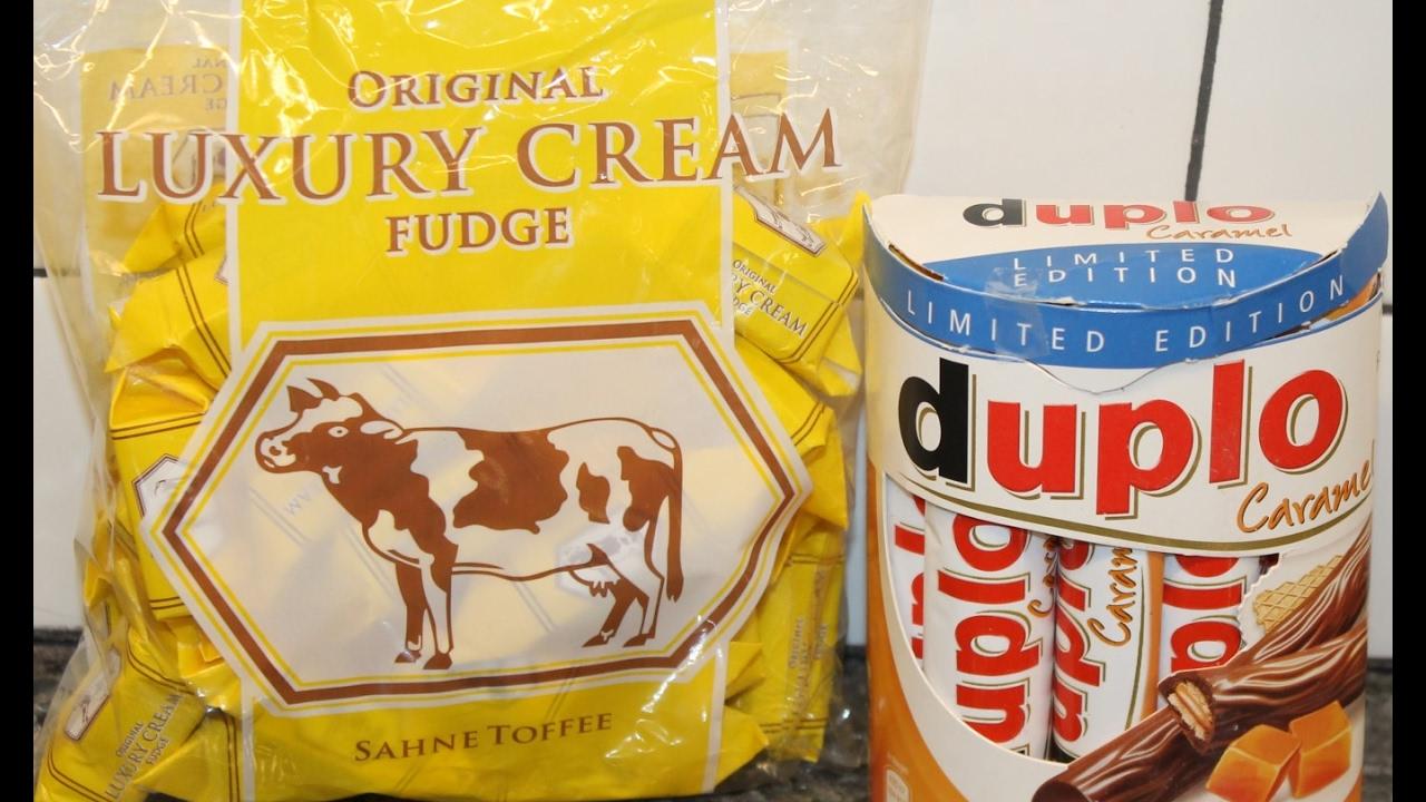 sahne toffee original luxury cream fudge duplo caramel review youtube. Black Bedroom Furniture Sets. Home Design Ideas