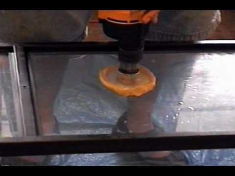 tempered glass drilling demo