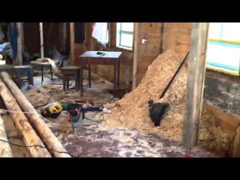 видео: Деревянный каркасный дом утепленный опилками 1930 г п