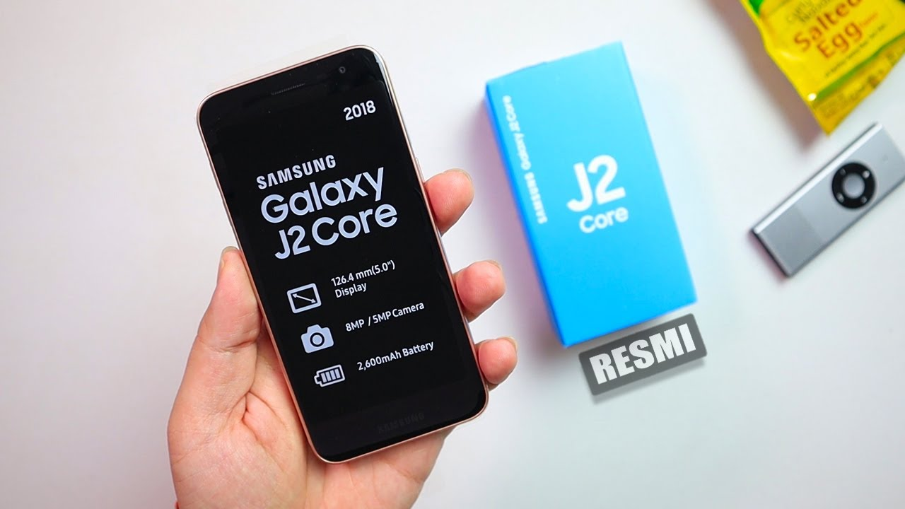 Unboxing Samsung J2 Core 2018 Youtube