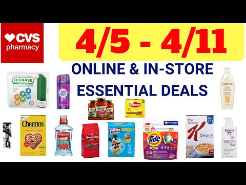 CVS COUPON MATCH UPS - 4/5-4/11   5 MONEY MAKERS!   Shopping For Essentials