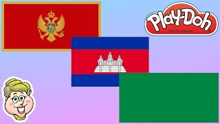 Play-Doh Flags! Montenegro, Cambodia, and Libya!  EWMJ #254