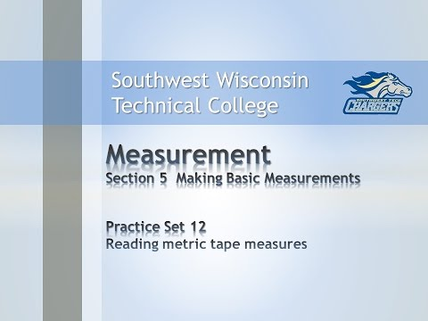 Col Math Measurement Chapter Practice Set Reading Metric Tape Measures