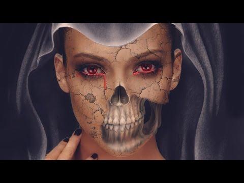 Photoshop: Halloween Skull Face in Photoshop