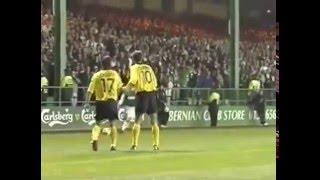 2001-02 UEFA CUP Round of 96 (2) HIBERNIAN-AEK