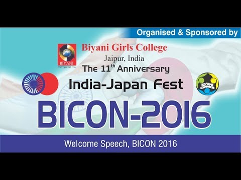 welcome speech, BICON 2016(English)