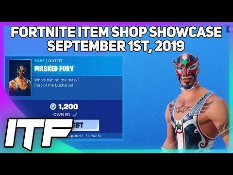 Fortnite Item Shop *RARE* MASKED FURY IS BACK! [September 1st, 2019] (Fortnite Battle Royale)