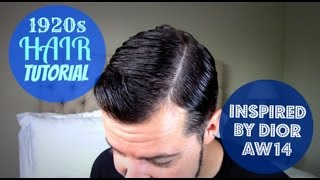 Dior 1920s Mens Hair Tutorial and Beard Trimming Jules Heptonstall Thumbnail