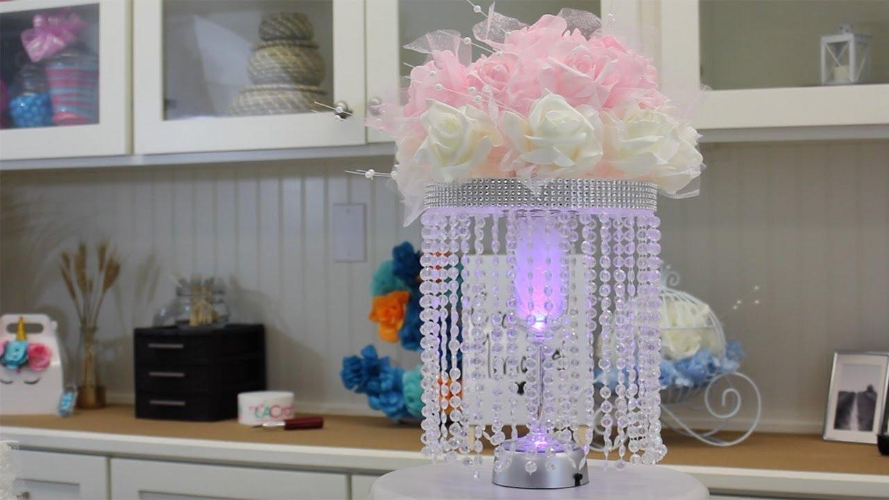 idea para centro de mesa de quinceanera 2018 qc004 youtube. Black Bedroom Furniture Sets. Home Design Ideas