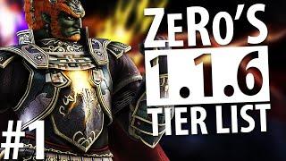 Super Smash Bros Wii U - Tier List (1.1.6) - Bottom Tier - ZeRo