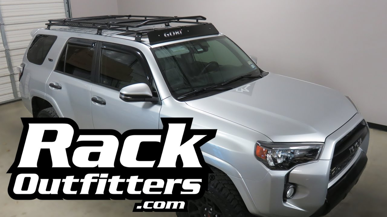Kayak On Roof >> Toyota 4 Runner Gen 5 GOBI Stealth Rack Off Road Roof Rack - YouTube
