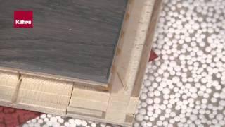 Нормальная укладка паркетной доски Kahrs с замком Woodloc® 5S