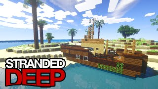 "Minecraft STRANDED DEEP! ""New Shipwrecks!"" (Minecraft Survival Island) #5 w/Vikkstar123"