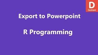 Erstellen Sie PowerPoint-Dokument aus R Daten