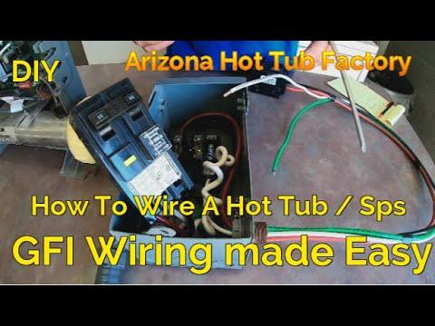 hot tub / spa wiring made easy 50 amp gfci installarizona hot tub  factory diy spa repair