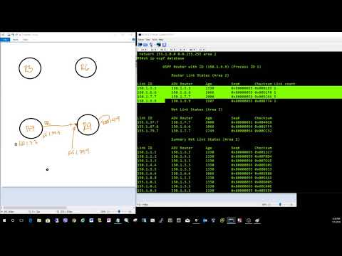 Figure out what an OSPF area topology looks like with a single router access