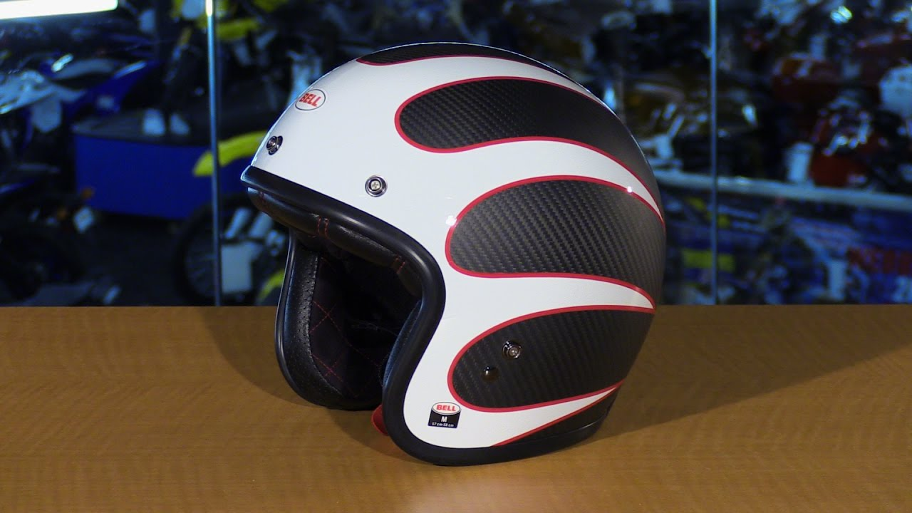 Bell Racing Helmets >> Bell Helmets Custom 500 Carbon Ace Cafe Tonup Open Face ...