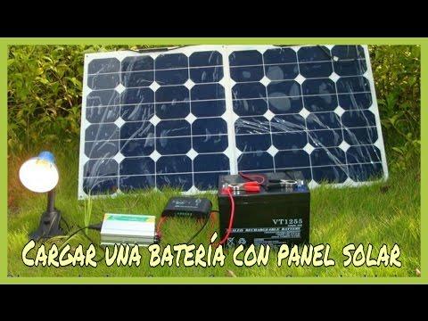 C mo cargar una bater a con un panel solar fotovoltaico for Panel solar pequeno