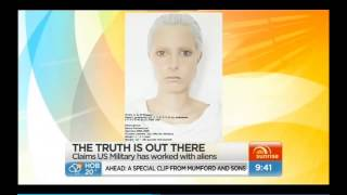 Dr Charles Hall on Sunrise - Contact with tall white ET