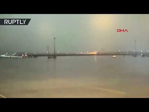 Plane crash-lands at Sabiha Gökçen airport in Turkey