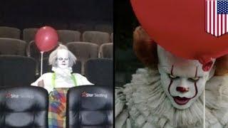 ホラー映画『IT/イット』上映中に本物の ピエロ現る