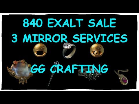 SELLING ORIGINAL MIRROR ITEM FOR 6 ETERNALS (840 EX VALUE) + Disgusting Crafting RNG | Demi