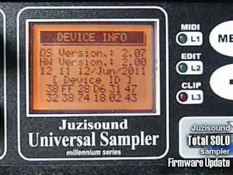 Juzisound Total SOLO Sampler - Firmware Update: This video demonstrate haw to upgrade Juzisound Total SOLO Sampler firmware, with Hyper Terminal Windows application.