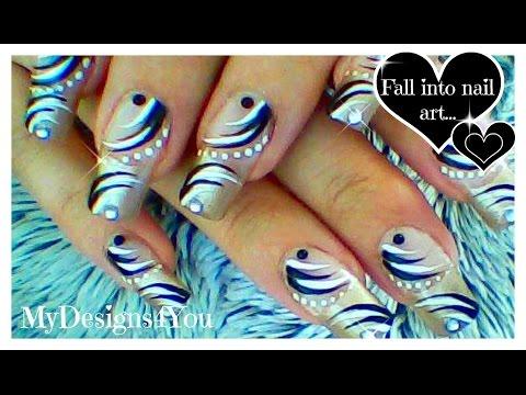 Abstract Black And White Nail Art | Monochrome Nails ♥ Абстрактный Черно-Белый Дизайн Ногтей