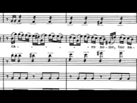 Maria Callas- Caro Nome, Rigoletto (with Score)
