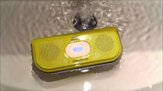 id618 robot bomb waterproof bluetooth stereo speaker with microphone waterproof testing