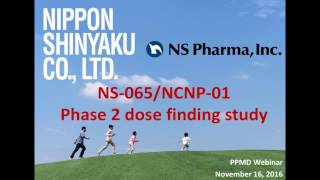 [Webinar] NS Pharma's Exon 53 Skipping Program - November 2016
