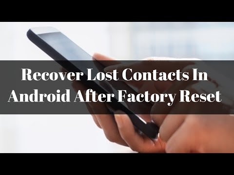 How To Recover Deleted Contacts From Android Phone After Factory Reset? | Android Tips And Tricks!