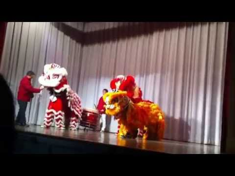 Newcomers High School Lion Dance 2015( Celebrating Show For Chinese New Year)