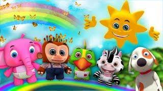 Г-н Золотое солнце | детские стишки | Детские песни | мультфильмы | Mr. Sun | Little Treehouse