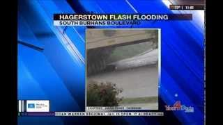 Flash Flooding: Washington County, MD - First Weather: WHAG News @ 11:00 PM - 1 July 2014