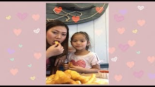 Eating fish and chips | delicious food | yummy lunch| American food