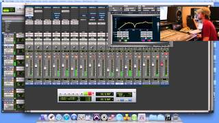Protools Mixing Drums at Ear Witness Studios