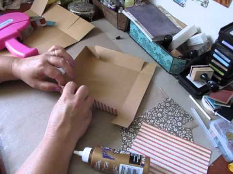 how to make a box out of cardboard with lid