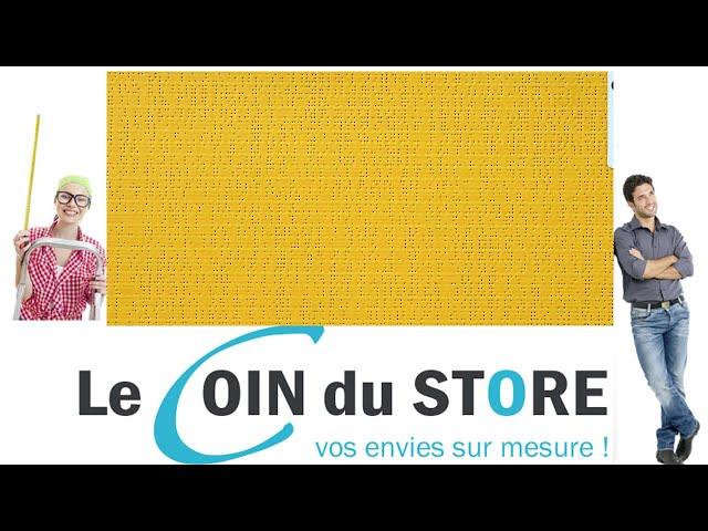 Toile PVC pour pergola et store Soltis Perform 92 Bouton d'or jaune soleil 2166 Serge Ferrari