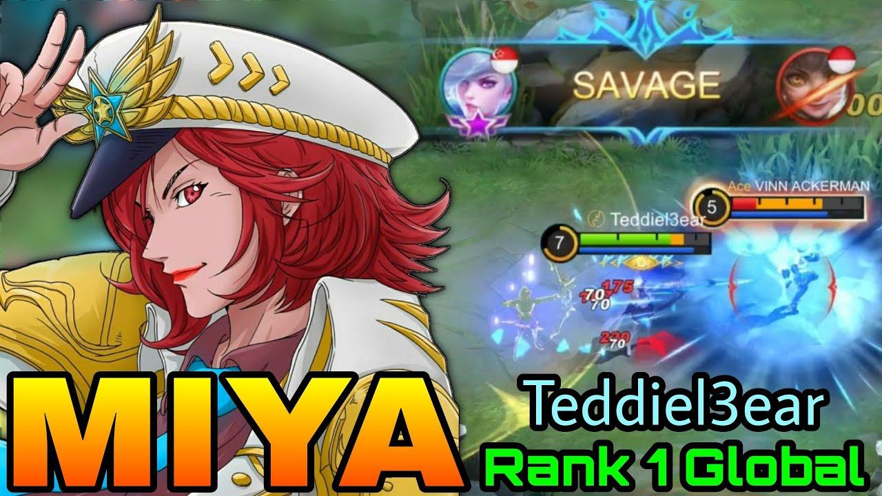 Miya Perfect SAVAGE!! - Top 1 Global Miya Teddiel3ear - Mobile Legends: Bang Bang