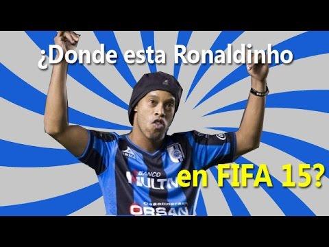 ¿Donde esta Ronaldinho en FIFA 15? porque nos hacen esto