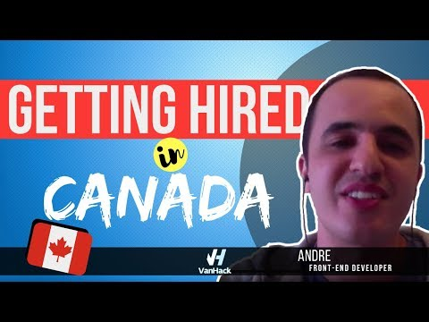 How Andre got a job as a Front End Developer in Canada