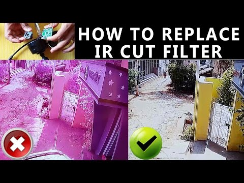 Replacing IR cut filter cctv camera | How to solve colour problem